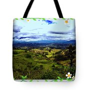 View And Inca/canari Ruins On Cojitambo II Tote Bag