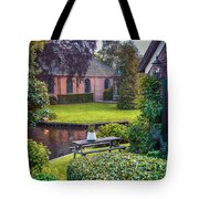 View At Old Church  In Dutch Village Tote Bag