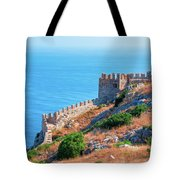 View Far Out To Sea From Alanya Castle Tote Bag