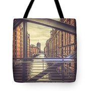View From A Bridge Tote Bag