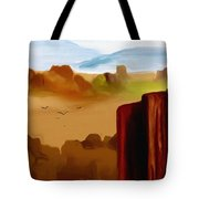 View From A Butte Tote Bag