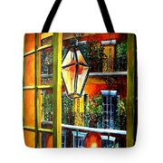 View From A French Quarter Balcony Tote Bag by Diane Millsap