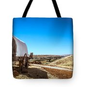 View From A Sheep Herder Wagon Tote Bag