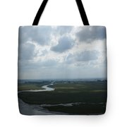 View From Abbey On Mont St. Michel Tote Bag