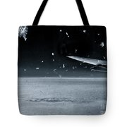 The View From Airplane Bw Tote Bag