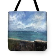 View From Bermuda Naval Fort Tote Bag