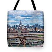 View From Brooklyn Bridge Tote Bag