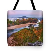 View From Greens Cave Bluff Tote Bag