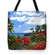 View From Keauhou Kona Tote Bag