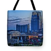 View From Lp Field Tote Bag