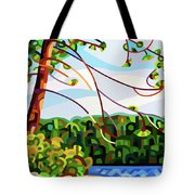 View From Mazengah - Crop Tote Bag