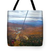 View From Mount Mansfield In Autumn Tote Bag