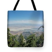 View From Mount San Jacinto Tote Bag by Ross G Strachan