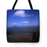 View From Summit Of Ben Arthur The Cobbler  Towards Loch Long Arrochar Loch Lomond And Ben Lomond Tote Bag