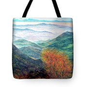 View From The Autumnal Belchen   Tote Bag