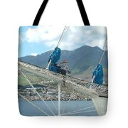 St. Kitts From The Bow Tote Bag