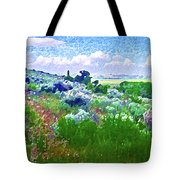 View From The Cabin Window 2 Tote Bag