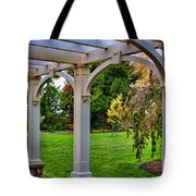 View From The Garden Way Tote Bag