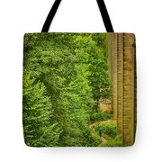 View From The Lllangollen Aqueduct In Wales Tote Bag