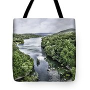 View From The Monksville Bridge Tote Bag