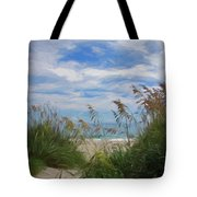 View From The Outer Banks Dunes Tote Bag