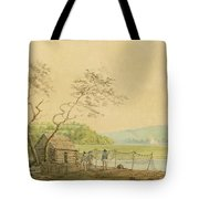 View From The Packet Wharf At Frenchtown Looking Down Elk Creek Tote Bag