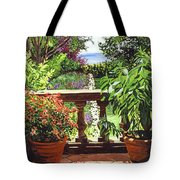 View From The Royal Garden Tote Bag