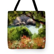 View From The Terrace - Paleokastritsa  Tote Bag
