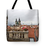 View From The Top In Prague Tote Bag