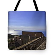 View From The Top In Sicily Tote Bag