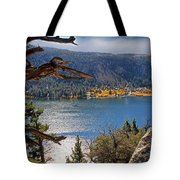View From The Top Of June Lake Tote Bag