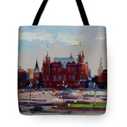 View From The Window Of The Hotel Metropol. Moscow. Manezhnaya Square. Tote Bag