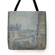 View From Theo S Apartment Paris, March - April 1887 Vincent Van Gogh 1853  1890 Tote Bag
