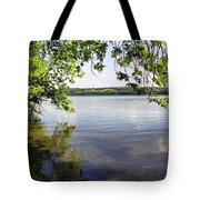 View From Under At Lake Carmi Tote Bag