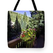 View From Vail House Tote Bag