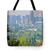 View From Wealthy Neighborhood In Hills Of Santiago-chile Tote Bag