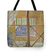 View Of A Butcher S Shop Arles, February 1888 Vincent Van Gogh 1853  1890 Tote Bag