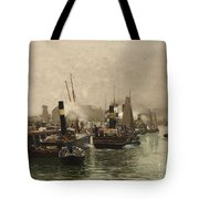 View Of A Dutch Harbour Tote Bag