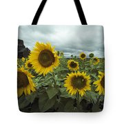View Of A Field Of Sunflowers Tote Bag