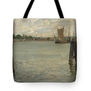 View Of A Harbour On The North Sea Tote Bag