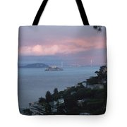 View Of Alcatraz From Our Sausalito Home Tote Bag