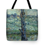 View Of Arles, Flowering Orchards Tote Bag