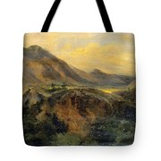 View Of Bagneres De Luchon. Pyrenees Tote Bag