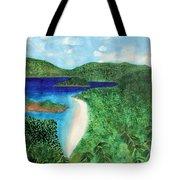 View Of Beach In St John Us Virgin Islands  Tote Bag