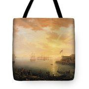 View Of Brest Harbor Tote Bag