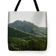View Of Bridge And The Town Of Cava, Kingdom Of Naples Tote Bag