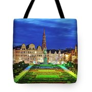 View Of Brussels From Jardin Du Mont Des Arts Tote Bag by Barry O Carroll