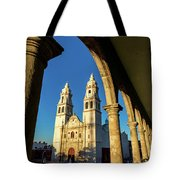 View Of Cathedral And Arches Tote Bag