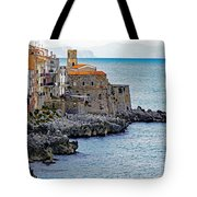 View Of Cefalu Sicily Tote Bag