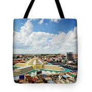 View Of Central Market Landmark In Phnom Penh City Cambodia Tote Bag